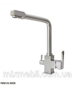 Кухонный смеситель комбинированный FKM-31 нерж