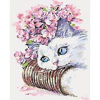 """Наборы для Рисования """"Белый котик"""" для взрослых и детей"""