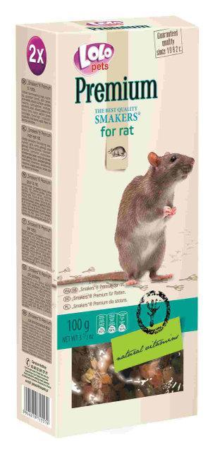 Smakers Premium для декоративных крыс 100гр. Lolopets