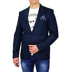 Темно-синий мужской классический пиджак PLUS SCORPION