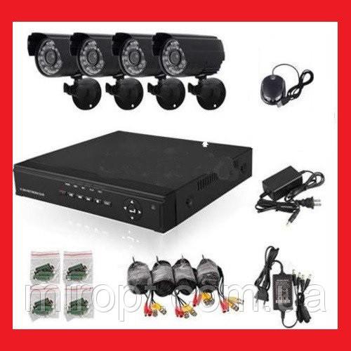 Комплект видеонаблюдения DVR KIT DIGITAL VIDEO RECORDER 8-канальный (4камеры в комплекте) 160Гб