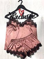 Соблазнительный модный комплект майка и шорты для дома и сна ТМExclusive