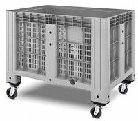 Пластиковые контейнеры 1200 х 800 х 800 перфорированные 4 колеса