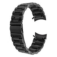 Браслет для часов  Samsung Gear S3 Classic Frontier  из нержавеющей стали, литой, черный. 22-й размер.