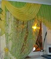 Ламбрекен 2 м на окно в кухню