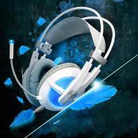 Компьютерные гаджеты somic G938 супер глубокий бас 7.1 виртуальный объемный звук USB-игровых гарнитура с голосовым управлением микрофон Белый