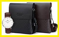 АКЦИЯ!!! Мужская сумка Polo Videng Paris+Часы в Подарок