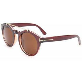 Шикарный сплав Украшенные матовые черные солнцезащитные очки для женщин - Цвет чая