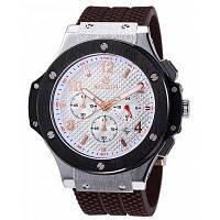 MEGIR 3002 Дата функции водонепроницаемость мужской Японии кварцевые часы с силиконовой лентой Белый