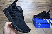 Мужские кроссовки Adidas NMD R2 PK черные Топ Реплика Хорошего качества, фото 1