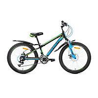 """Детский велосипед Avanti Rider Disk 24"""" зелено-синий"""