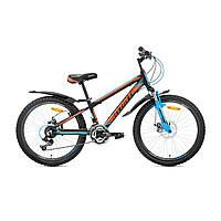 """Детский велосипед Avanti Rider Disk 24"""" черно-оранжевый"""