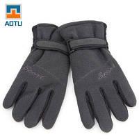 AOTU Велоспорт перчатки унисекс зима теплый держать Глубокий серый