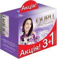 """Подарочный набор мыла """"Duru Floral Sensations 3+1"""" (сирень, жасмин и цветок апельсина с молочным протеином)"""