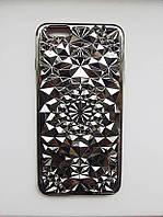 Силіконовий чохол Кристал iPhone 6 Plus, сріблястий