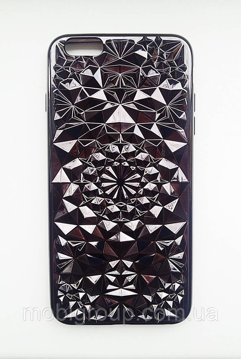 Силиконовый чехол Кристалл iPhone 6 Plus, черный