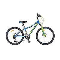 """Детский велосипед Avanti Drive 24"""" сине-зеленый"""