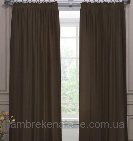 Комплект готовых штор венге в зал спальню гостиную