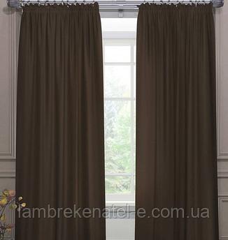 Готовые шторы в зал спальню, коричневый цвет, Турция. Дополнительно - тюль