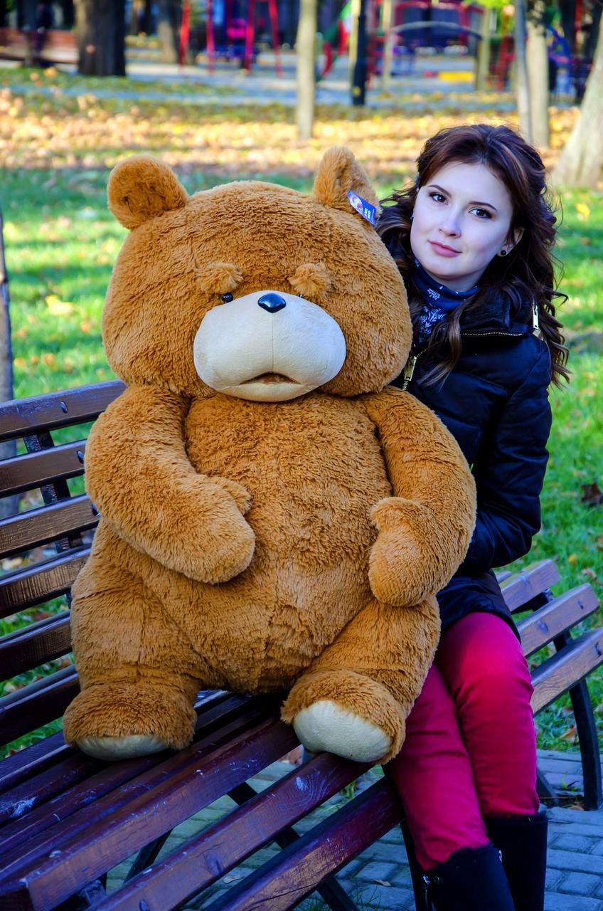 Большой плюшевый медведь 100см. Тэд разные цвета (плюшевый мишка, мягк