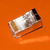 Конектор RG45 екранований FTP, категорії 5Е (упаковка 100шт)