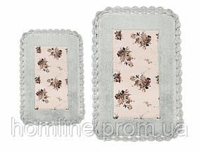 Набор ковриков для ванной Irya Essa 60*90+40*60 голубой