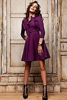 Платье с расклешенной юбкой и длинным рукавом 881056
