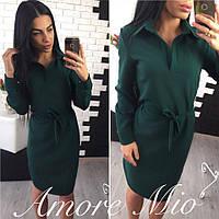 Платье-рубашка под пояс в разных расцветках 881065