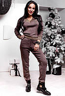 Теплый женский спортивный костюм из вязки 77218