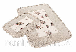 Набор ковриков для ванной Irya Essa 70*110+40*60 бежевый