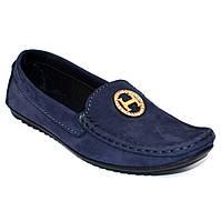 "Замшеві мокасини сині жіноче взуття Ornella Blu Vel by Rosso Avangard колір ""Океан"""