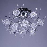 Люстра с LED лампочками и элементами хрусталя P5-Y0681/13 CH/HIGH хром