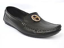 """Мокасины кожаные женская обувь больших размеров Ornella BS Black Leather by Rosso Avangard цвет черный """"Инк"""""""