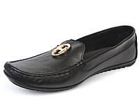 """Женская обувь больших размеров мокасины кожаные Ornella BS Black Leather by Rosso Avangard цвет черный """"Инк"""""""