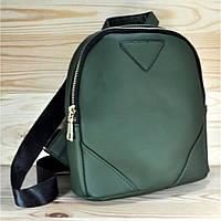 Рюкзак из эко-кожи зеленый