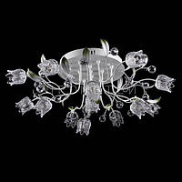 LED люстра с диодной подсветкой (лампочки в комплекте). P5-Y0776/13/WT
