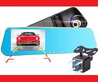 """Зеркало-видеорегистратор DVR L20 Full HD 4"""" с выносной камерой заднего вида , фото 1"""