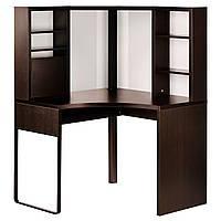 IKEA MICKE Угловой стол, черно-коричневый  (502.447.41)