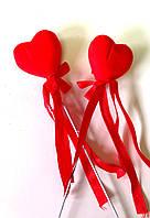 Сердечки красные, 2 шт