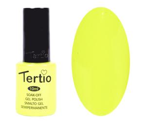 Гель лак Tertio 127, неоново желтый, 10мл