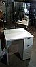 Туалетный столик однотумбовый с ящиками и цоколями встроенными в зеркало, фото 2