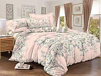 Двуспальный комплект постельного белья евро 200*220 сатин (9022) TM KRISPOL Украина