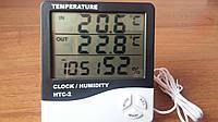 Термометр с 2-я датчиками + гигрометр + часы (HTC-2 )