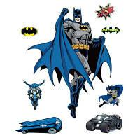 Творческий Бэтмен Форме Стикер Стены Декоративные Обои Цветной