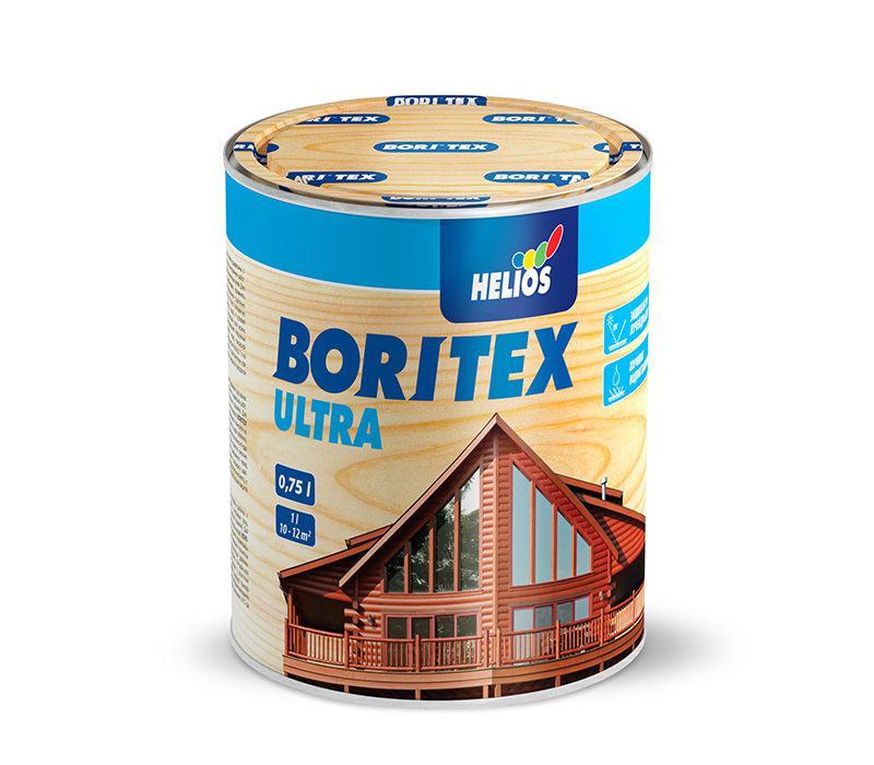 Лазурь для дерева с содержанием воска HELIOS BORITEX Ultra, сосна, 0,75л