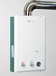 Газовая турбированная колонка Savanna 18 кВт 10 л LCD белая проточный газовый водонагреватель