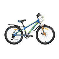 """Детский велосипед Avanti Sprinter Disk 24"""" сине-зеленый"""