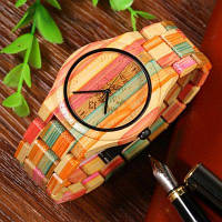 BEWELL Citizen 2035 Мужские кварцевые часы из цветного бамбука Разноцветный