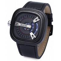 SKONE 9421G мужчины кожаный ремешок кварцевые наручные часы Синий