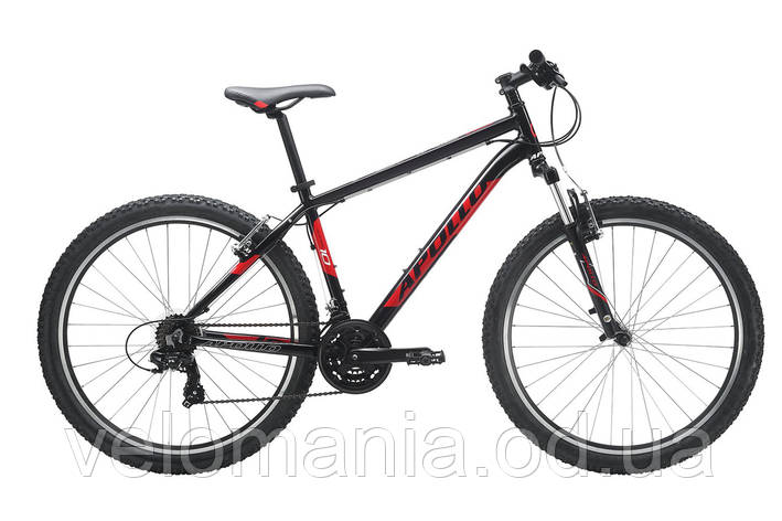 "Велосипед 27,5"" Apollo Aspire 10 рама - XL Gloss Black/Gloss Red/Gloss White 2017, фото 2"